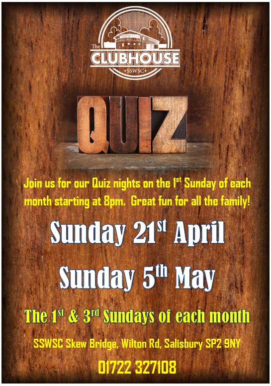 Quiz Night @ The Parker Bullen Bar The Clubhouse Salisbury