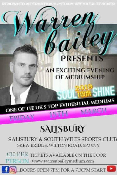Psychic Evening @ Marland Room The Clubhouse Salisbury