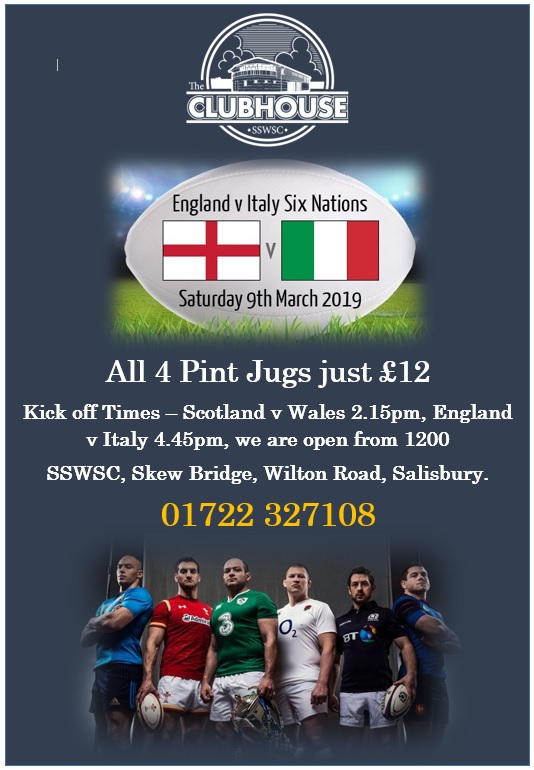 6 Nations England V Italy @ The Parker Bullen Bar & The Marland Room