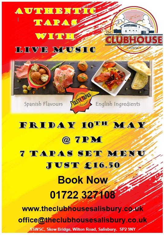 Tapas Night @ The Parker Bullen Bar The Clubhouse Salisbury